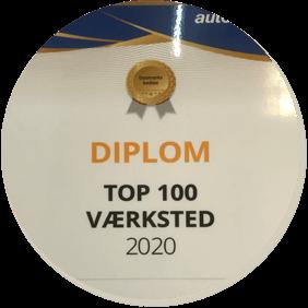 Top 100 værksted i Danmark 2020